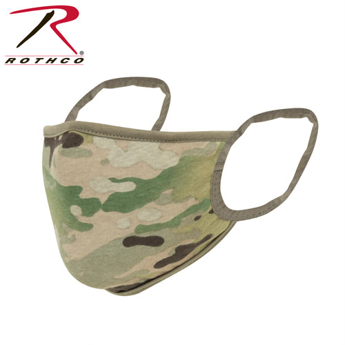Rothco MultiCam Reusable 3-Layer Face Mask - Reversible MultiCam / Coyote