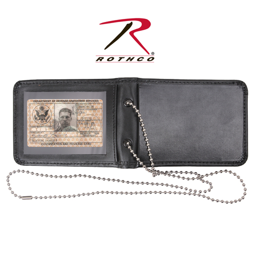 Leather Neck Identification Holder