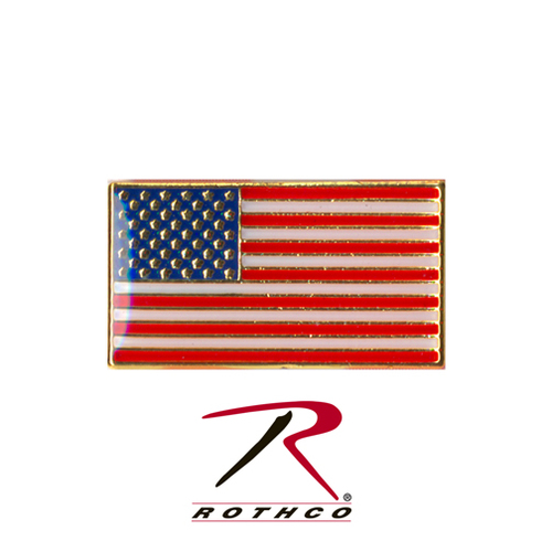 Classic Rectangular US Flag Pin