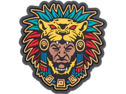 "Mil-Spec Monkey ""Aztec Warrior Head 1"" PVC Morale Patch"