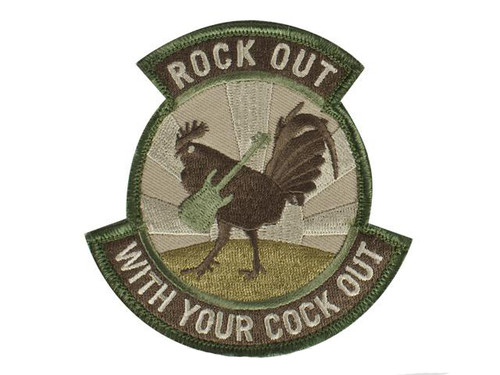 """Mil-Spec Monkey """"Rock Out"""" Hook and Loop Patch"""