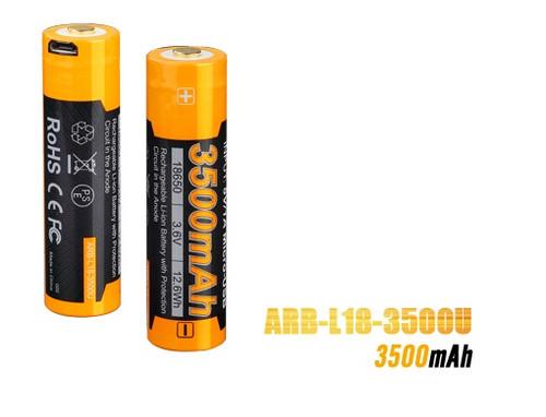 Fenix ARB-L18 USB Rechargeable 18650 Battery - 3500mAh