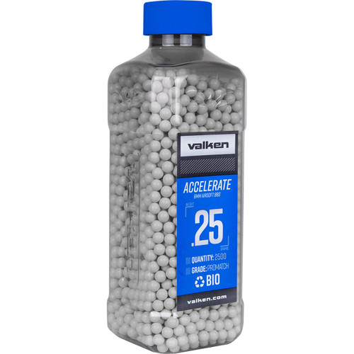 Valken Accelerate ProMatch 0.25g 2,500ct Biodegradable Airsoft BBs