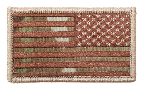 Patch - Reverse Multicam U.S. Flag with Hook Back