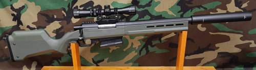 ARES Striker AS02 Sniper Rifle Upgraded- Green - USED