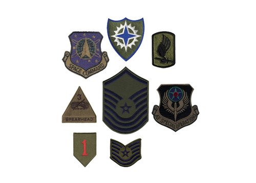 Assorted Subdued Military Patches