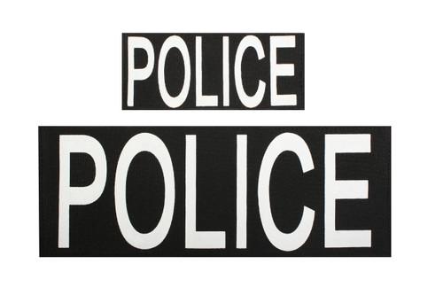 Patch - POLICE w/Velcro Back - Set Of 2