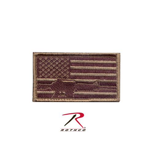 Patch - Subdued Flag / Rifle - Velcro