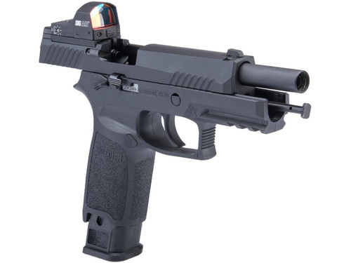 SIG Sauer ProForce P320 M17 MHS Airsoft GBB Pistol (Color: Black / CO2 / Competition Package)