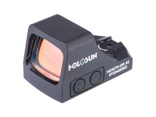 HOLOSUN HE507K-GR X2 Solar + Battery Powered Micro Dot Reflex Sight w/ Circle Dot Reticle