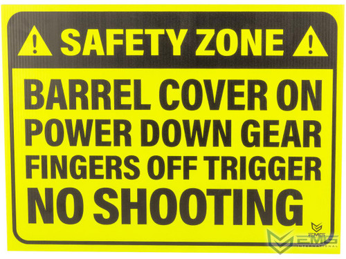 """Airsoft 18"""" x 24"""" Neon Plastic Field Sign by EMG (Type: Safety Zone)"""