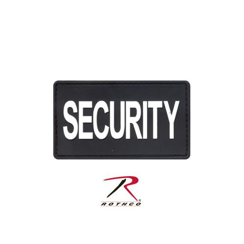 Patch - PVC Security w/ Velcro Back - Black / White