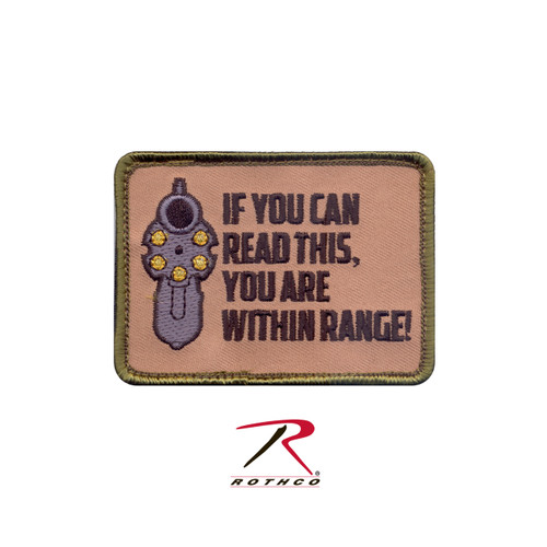 """Patch - """"If You Can Read This"""" - Velcro Backing"""