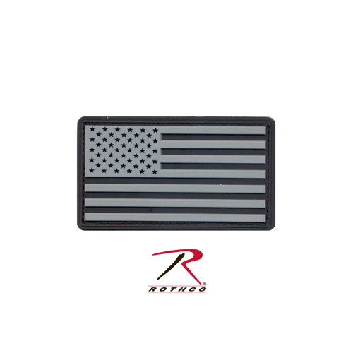 Patch - PVC US Flag w/ Velcro Back