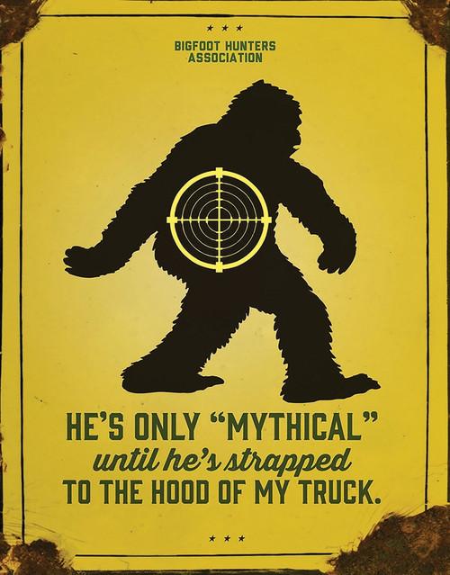 Sasquatch Mythical Sign