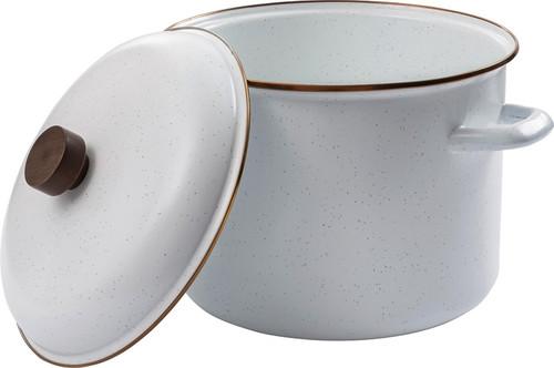 Enamel Stock Pot Eggshell