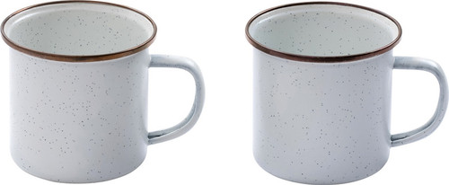 Enamel Cup Set Eggshell