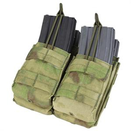 Condor Double Stacker M4 Mag Pouch A-TACS FG