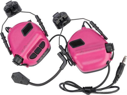 Earmor M32H MOD3 Tactical Communication Hearing Protector for ARC FAST MT Helmets (Color: Pink)