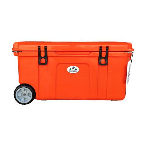 75L Chilly Ice Box w/ Wheels - Orange Blaze