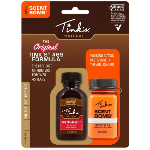 Tink's #69 Doe-in-rut Buck Lure2 Oz.&Scent Bomb