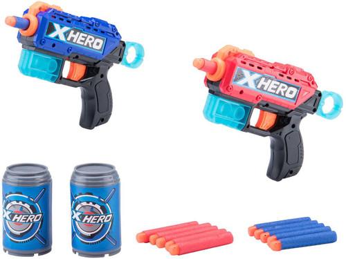 XHERO Foam Dart Gun Dual Pistol Set w/ Darts and Targets