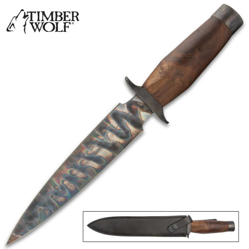 Timber Wolf Fire Kissed Fighter Dagger