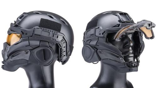 SRU SR Tactical Helmet Type II w/ Integrated Cooling System & Flip-Up Visor