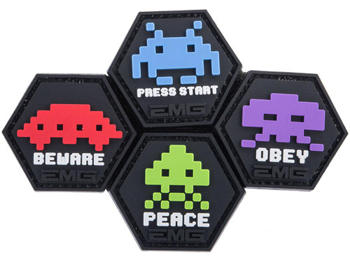 """""""Operator Profile PVC Hex Patch"""" Space Invaders Set"""