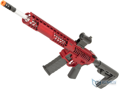 EMG F-1 Firearms BDR-15 3G AR15 2.0 eSilverEdge Full Metal Airsoft AEG Training Rifle (Model: Red / RS2 Stock / 400 FPS)