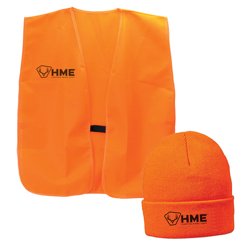 Orange Vest & Beanie