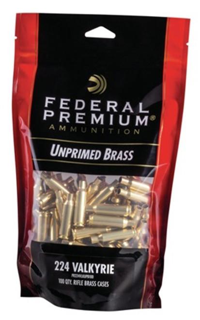 224 Valkyrie Unprimed Brass 100 Per/Bag