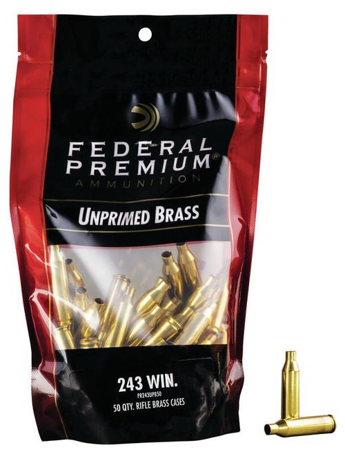 243 Win Unprimed Brass 50/Bag