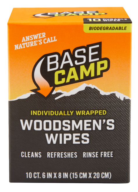 """Woodsman'S Wipes 6""""X8"""" Individually Packaged 10Pk"""