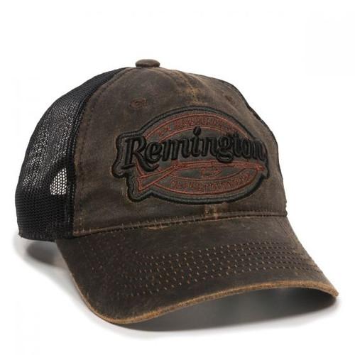 Remington Weathered Dark Brown & Black Mesh Cap