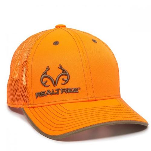 Realtree Blaze Orange Mesh Back Cap