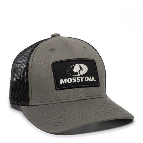 Mossy Oak Fabric Patch Olive & Black Mesh Back Cap