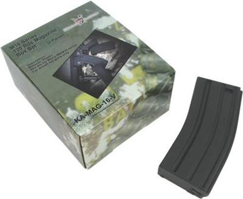 King Arms M16 120 Rounds Magazine Box Set of 5