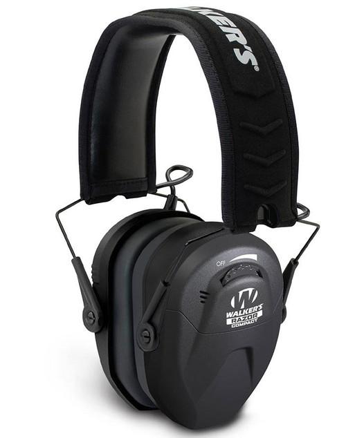 Walker's Razor Compact Electronic Ear Muff for Women / Chindren (Color: Black)