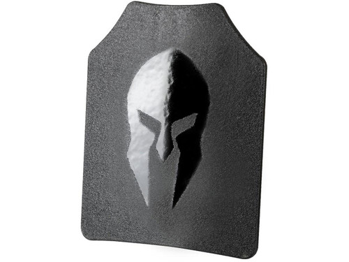 """Spartan Armor Systems """"Omega"""" AR500 Level III Steel Core Body Armor Plate (Model: Shooters Cut - Single Curve w/ Full Coat / 8x10 / Set of Two)"""