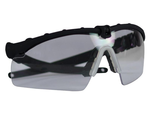 Bravo Airsoft Tactical Eye Pro with Clear Lens - Black Frame