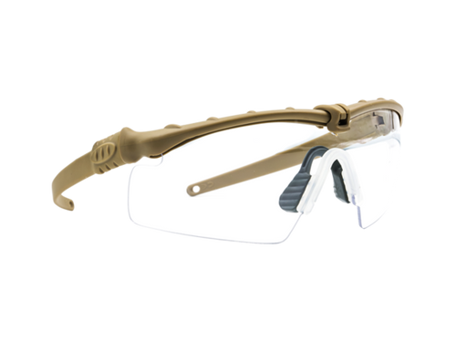 Bravo Airsoft Tactical Eye Pro with Clear Lens - Tan Frame