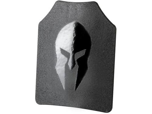 Spartan Armor Systems AR500 OMEGA Level III Steel Core Body Armor Plate -Set of 2 (Shooters Cut - Single Curve)