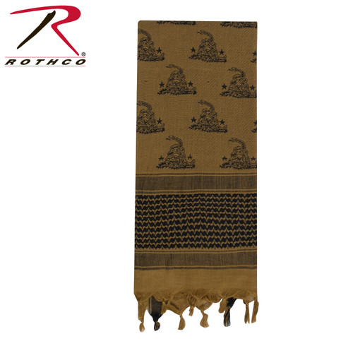 Gadsden Snake Shemagh Tactical Desert Scarf - Coyote Brown