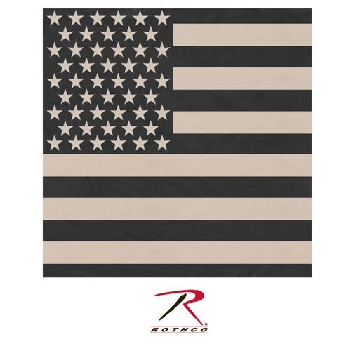 """Bandana - Subdued US Flag - 27"""""""
