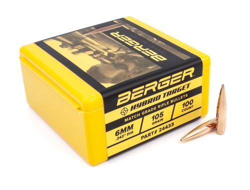 .243 Dia 105GR Match Hybrid Target 100 Per Box