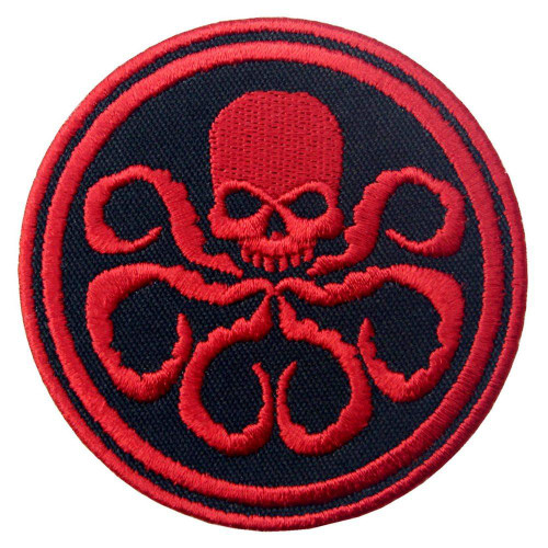 Hydra Embroidered Iron On Patch - Red