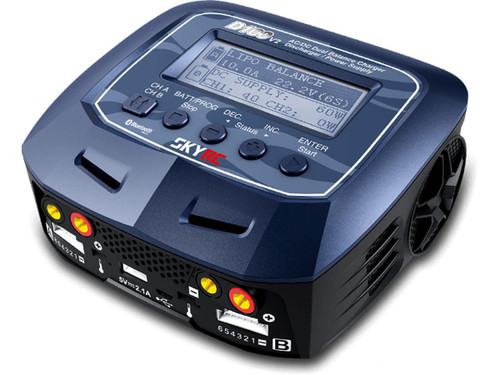 SkyRC D100v2 Dual-Channel Bluetooth AC/DC Balance Charger & Discharger