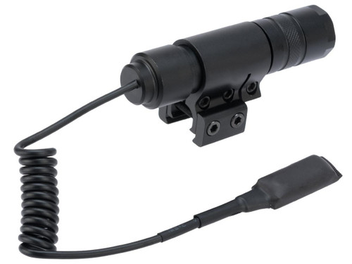 AIM Sports Metal LED 400 Lumen Flashlight with Switch and Mount