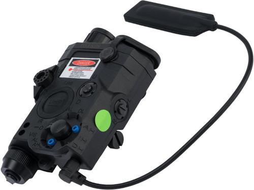 Element Dummy PEQ-15 LA-5C Illuminator w/ Flashlight, Visible and IR Laser (Color: Black / Green Laser)